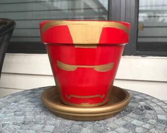 Ironman Flower Pot