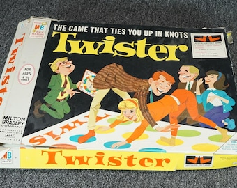 Vintage Milton Bradley Twisterthe Game That Ties You Up In Knots C. 1966