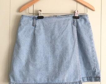 Vintage 90s Light Wash Skort Skirt Be Bop Clothing size 13 Womens