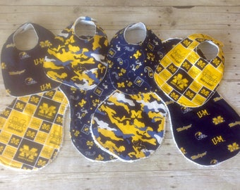 University of Michigan Infant Bib/Burp Cloth Set