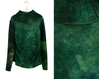 Green Knitted Sweater, Oversized Turtleneck, High Neck Pullover, Green Felted Sweater, Luxury Knit, High Neck Pullover, Green Sweater