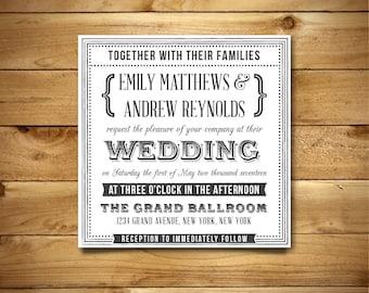 Wedding Invitation Template - Printable Wedding Invitation - Editable Wedding Template - Instant Download