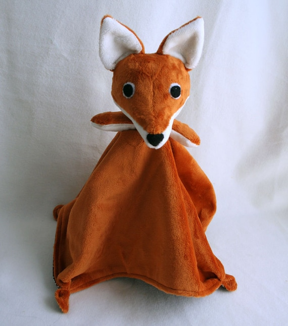 Fox Lovey Blanket PDF Sewing Pattern - Soft Toy for Baby from ...