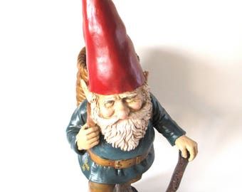 Garden gnome 33 INCH Foraging Gnome with Basket. Rien Poortvliet, David the Gnome, Klaus Wickl, el Gnomo. Gnome Gift #6A7G208DK7