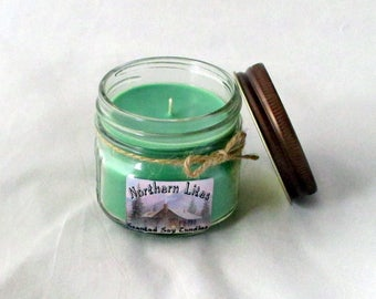 4 oz soy candle, choose scent, jar candle, scented soy candle, handmade candle, container candle, soy wax candle, candle gift, green candle