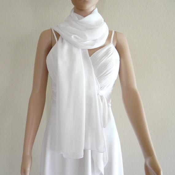 Long White Scarves