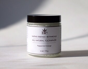 Natural Peppermint Orange Whitening Toothpaste With Xylitol And Baking Soda - Vegan - Dental Hygiene