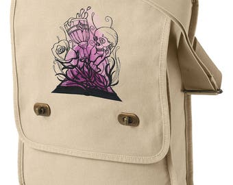 Literary Magic - Shakespeare Embroidered Canvas Field Bag