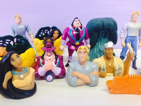 Pocahontas Toy Set Large Vintage Set Pocahontas Finger