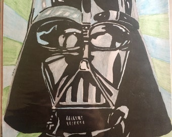 Darth Vader Ink and Watercolour drawing