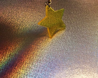 YELLOW STAR EARRINGS