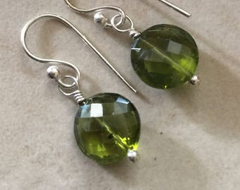 Peridot Gemstone Drop Earrings Green Earrings Simply Drop Earrings Natures Splendour August Birthstone
