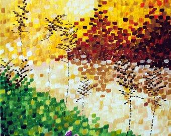 Scottish sunrise, acrylic painting on gallery wrapped canvas