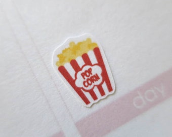 60 popcorn Stickers | Planner Stickers designed for use with the Erin Condren Life Planner | 0459