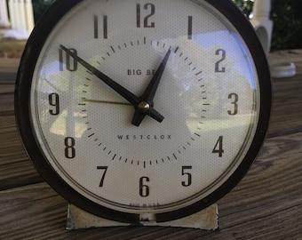 Antique Big Ben Alarm Clock by Westclox Mid Century 1950s Alarm Clock