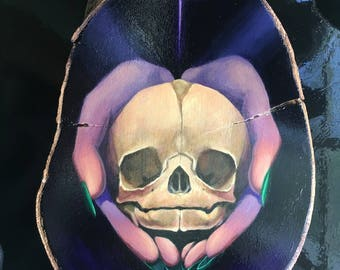 The Offering - Acrylic Painting - Fetal Skull