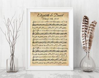 Song Music Sheet Print, Lyrics song sheet canvas, music sheet art, wall art sheet, Music Wall Art, Custom Music Print, Music Sheets Art