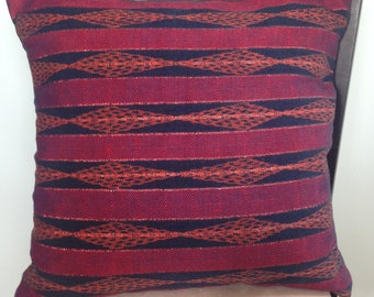 Guatemalan Red Textile Pillow