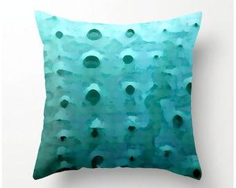 Blue SEA URCHIN PILLOW accent cushion, urchin pattern design, square sofa pillow, scatter cushion, beach decor, coastal decor, accent pillow