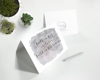 Faith in God...IVF IVF Card IVF Cards, Infertility Card, Infertility Cards, Infertility Encouragement Card, Infertility Support
