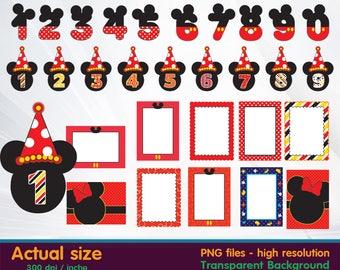 Mickey clipart - Minnie Clipart Digital 300 DPI PNG Images, Photos, Scrapbook, Cliparts - Instant Download