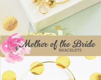 Mother of Bride Bracelet Gift Mother of the Groom Bracelet Mother of Bride Jewelry Mother of the Groom Jewelry (EB3144WC) Monogram Bracelet