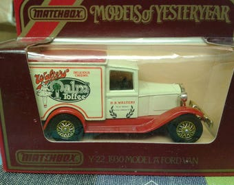 Matchb Car- Walter's Palm Toffee 1930 Model 'A' Ford Van Y-22