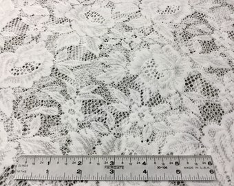 White flowers lace fabric