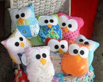 Large Owl Party Favors Six 8x6 Inch Plush Owls Party Favors