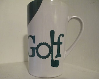 Golf Golfing Mug Coffee Cup Gift for Him Fathers Day Home Decor Jenuine Crafts