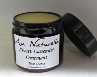 Sweet Lavender Ointment  -  Multi Purpose Balm  -  Skin Balm  -  All Natural  -  Two Ounce -  Natural Beneficial Balm