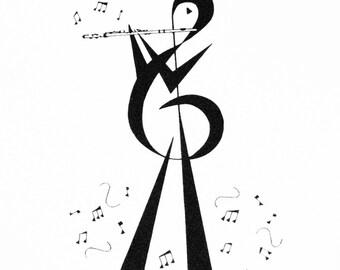 Flute Player Print