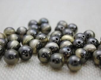 Vintage 12mm Antique Gold Beads (20 Pieces)