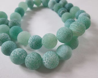 green dragon veins agate round 10 mm 10 beads