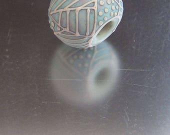 OOAK Lampwork Glass Bead - Big Hole
