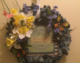 """Wreath - """"Welcome Spring"""""""