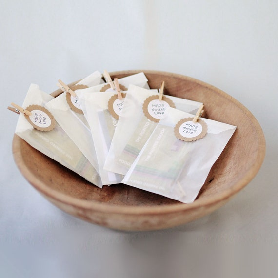 Glassine Bag Sampler- 2 of each of our 4 sizes to try  || Wedding Favor Bags, Treat Bags, Business Card Envelopes