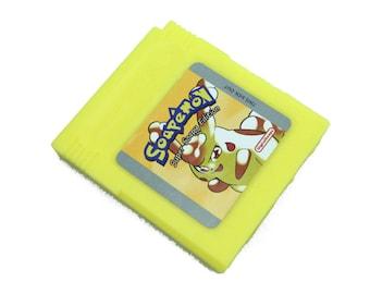 Soap Pokemon Yellow Parody, gameboy pokemon, pikachu, mini guest soap, guest soap, gameboy, guest soap favors, guest soaps, mini soap