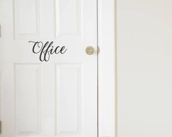 Office Vinyl Door Decal