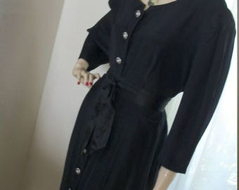 Vintage Edwardian Goth Style Dress Redesigned About One Size Circa 1980s