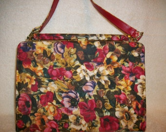 Handbag,  Vivid Flowered Print