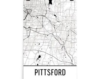 Pittsford Map, Pittsford NY Art, Pittsford Print, Pittsford New York Poster, Pittsford Wall Art, Map of Pittsford, Pittsford Gift, Decor