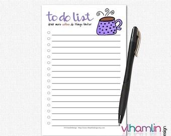 Funny To Do List Notepad - Coffee To Do Lists - To Do List Notebook - Cute To Do List - To Do Notepad |  Coffee Mug