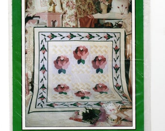 Sewing Pattern, Wall Quilt Climbing Rose, Lap Quilt Climbing Rose, quick piecing pattern