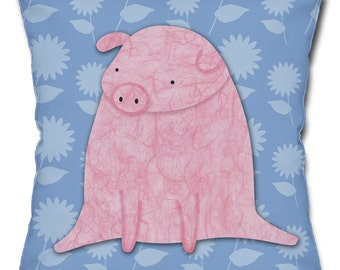 Precious Pig Throw Pillow
