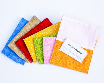 Small Pouches for Labels, Grammar, Word Study