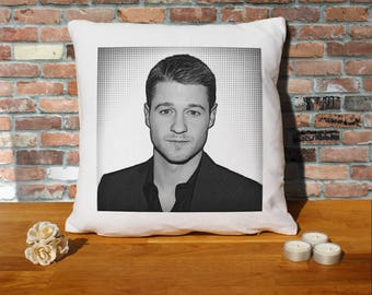 Ben McKenzie Pillow Cushion - 16x16in - White