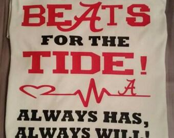 My Heart Beats For The Tide Tee Alabama Alabama Roll Tide Crimson Tide Football SEC Alabama Football University of Alabama Houndstooth