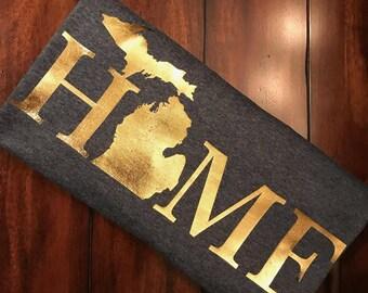 Michigan HOME Womens T-Shirt