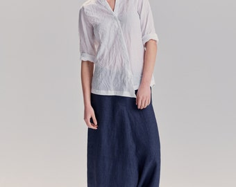 NEW / Ink Blue Linen Pants/ Extravagant Drop Crotch Pants/ Loose Linen Trousers/ Stylish Harem Pants by AryaSense / PLN16IBU